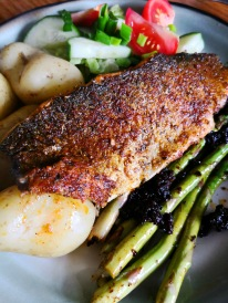 With asparagus & fish